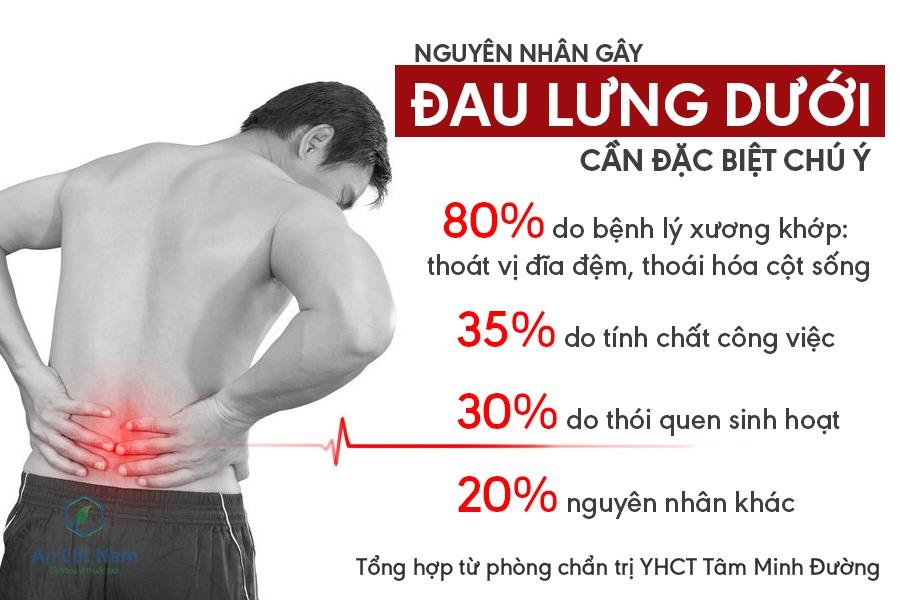 đau lưng dưới nguyên nhân