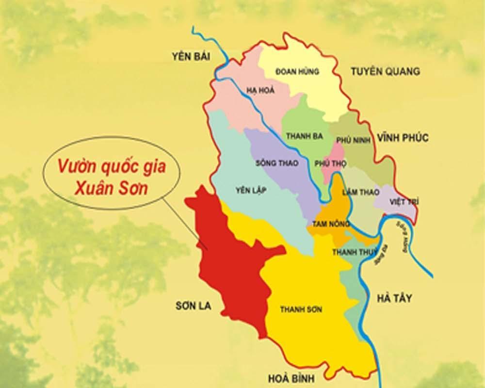 Vị trí địa lý vườn quốc gia Xuân Sơn