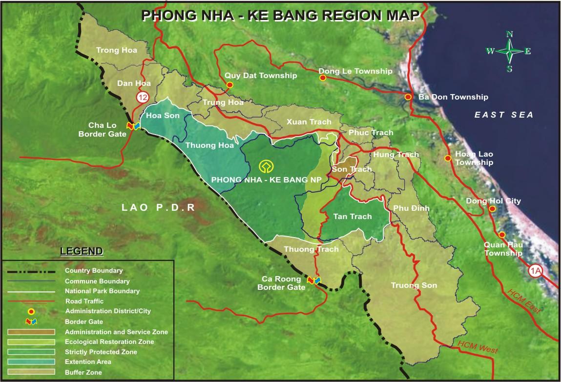 Vị trí địa lý vườn quốc gia Phong Nha Kẻ Bàng