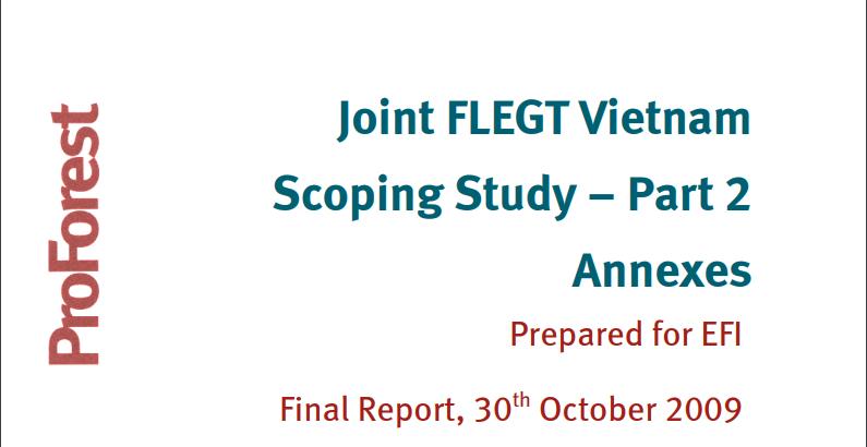 Vietnam FLEGT scoping study