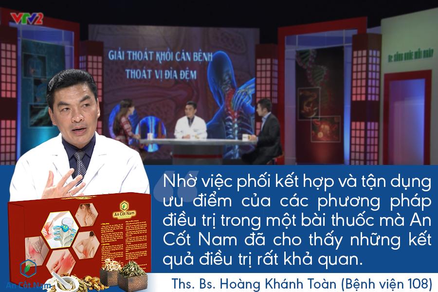 Bác sĩ Toàn đánh giá cao hiệu quả điều trị của An Cốt Nam