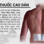 Miếng dán đau lưng loại nào tốt?