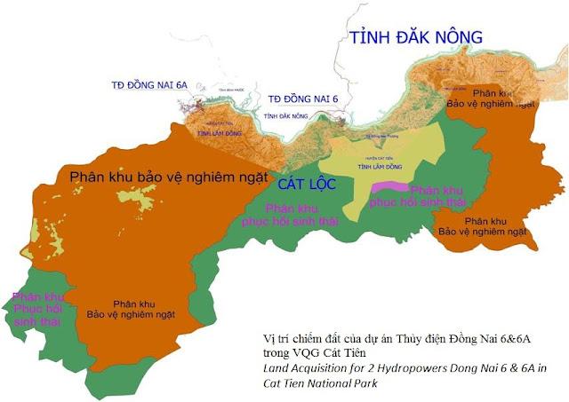 Vị trí địa lý vườn quốc gia Cát Tiên