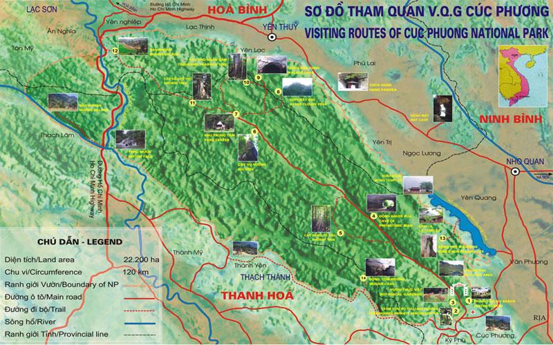 Vị trí địa lý vườn quốc gia Cúc Phương