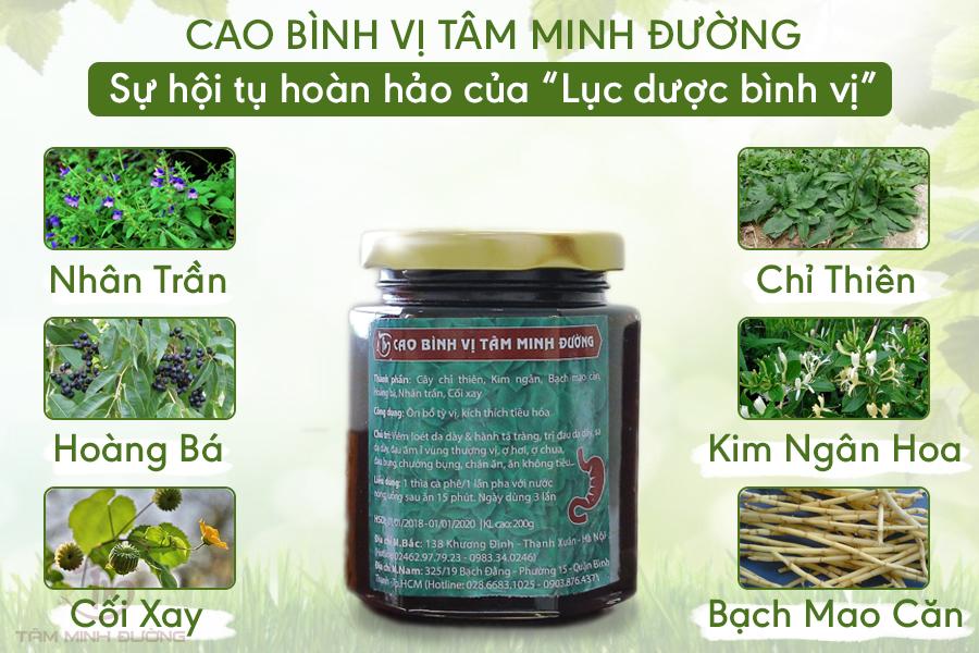 Cao Bình Vị Tâm Minh Đường: 100% thảo dược đạt chuẩn CO-CQ (Bộ Y tế)