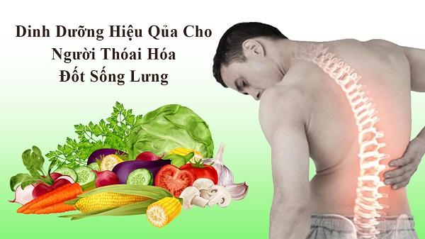 chế độ ăn đầy đủ chất dinh dưỡng trị đau lưng chóng mặt