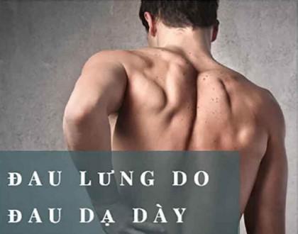 Đau dạ dày có bị đau lưng không