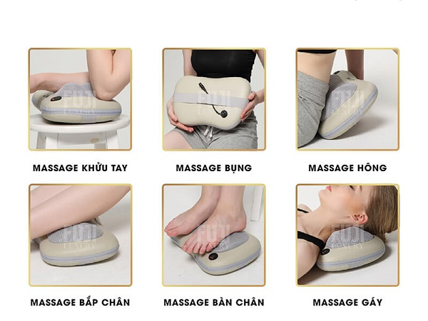 Gối massage hồng ngoại có rất nhiều tác dụng tuyệt vời