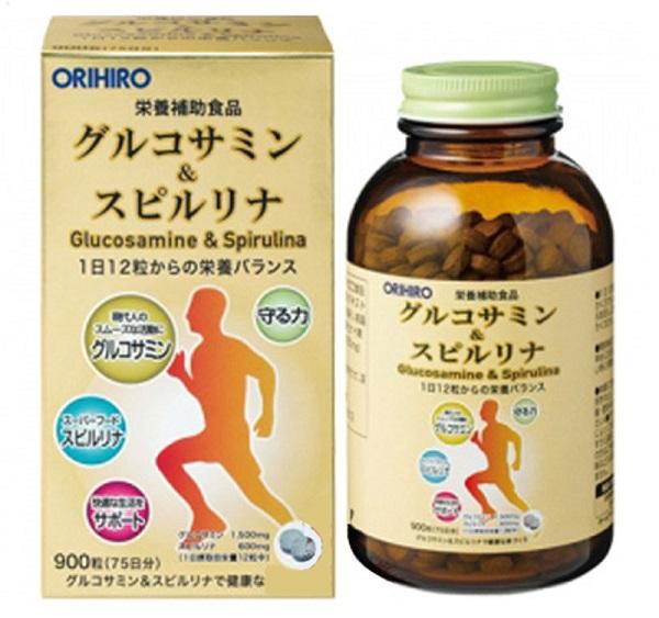 Thuốc Glucosamine & Spirulina Orihio được chiết xuất từ các loại hải sản như tôm, cua, vi cá,...