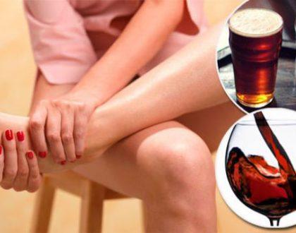 đau nhức xương khớp sau khi uống bia