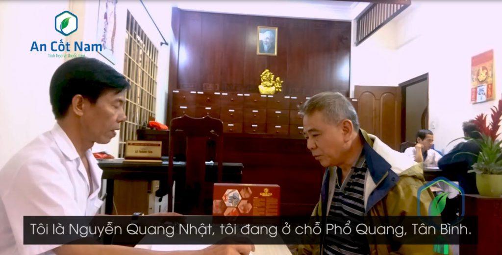 Ông Nguyễn Quang Nhật chia sẻ về bệnh đau lưng của mình