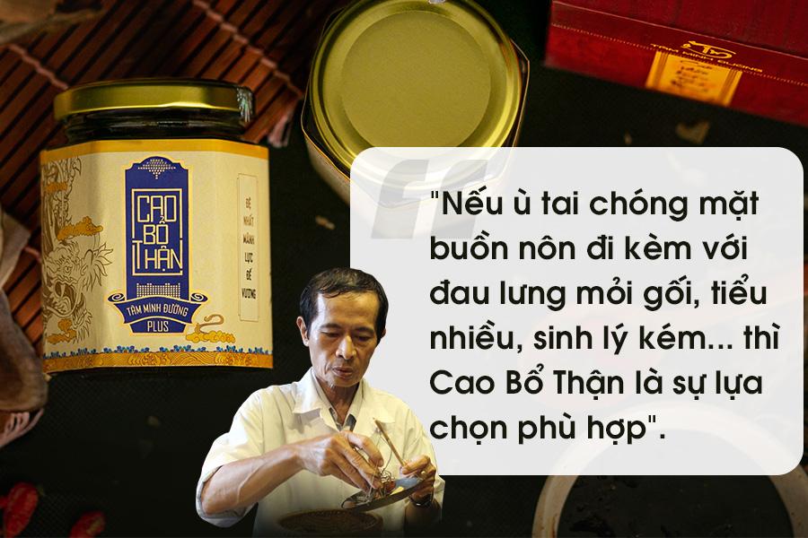 PGS.BS Nguyễn Trọng Nghĩa chia sẻ về Cao Bổ Thậna