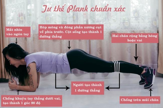 cách tập plank đúng tránh đau lưng