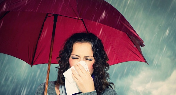thời tiết thất thường gây ho ở bà bầu