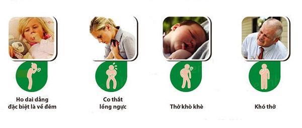 triệu chứng hen phế quản